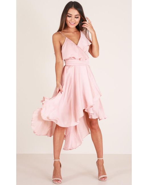 Showpo | Pink You Already Know Dress In Blush | Lyst