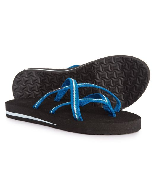 Teva - Blue Olowahu Flip-flops (for Women) - Lyst