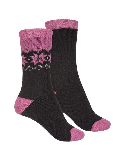 Born - Black Fair Isle Boot Socks - Lyst