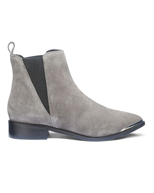 Simply Be - Gray Paige Pointed Boots - Lyst