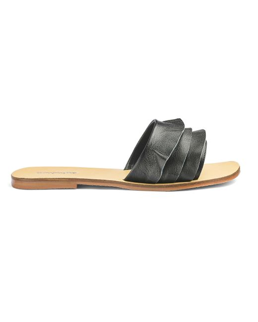 Simply Be - Black Sophia Leather Sandals - Lyst