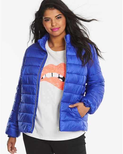 Simply Be - Blue Bright Padded Jacket - Lyst