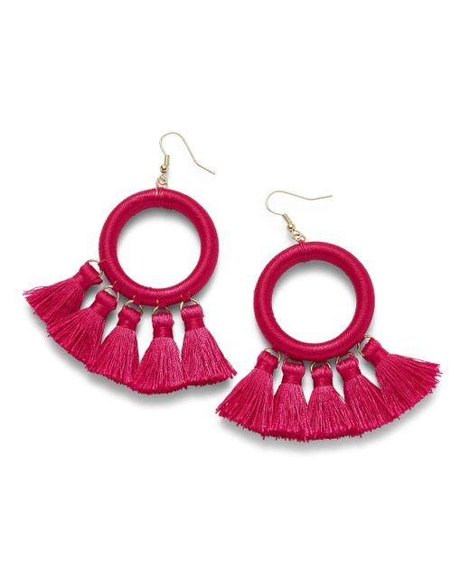 Simply Be - Pink Thread Wrap Earrings - Lyst