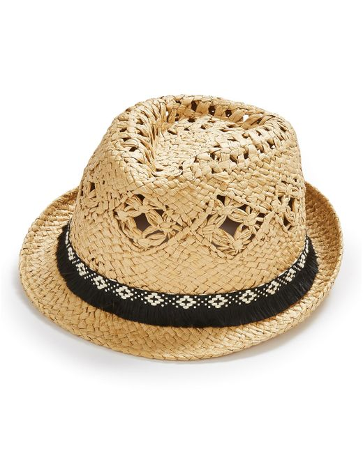 Simply Be - Natural Straw Fedora - Lyst