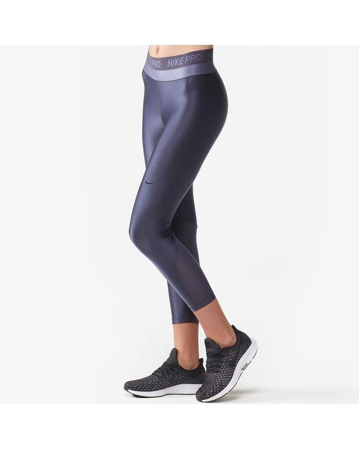 82330983a39b5 Nike Hypercool Crop Tights in Blue - Lyst