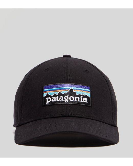 ec8c0ce8cf6 ... Patagonia - Black P-6 Stretch Fitted Cap for Men - Lyst ...