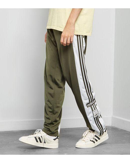 Adidas originali og adibreak pantaloni della tuta verde per gli uomini lyst
