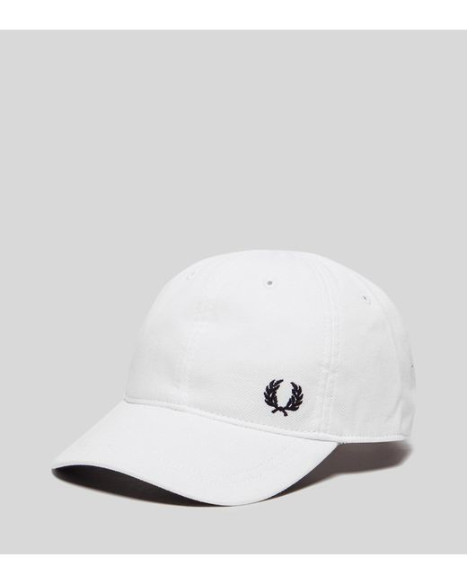Fred Perry | White Pique Classic Cap for Men | Lyst