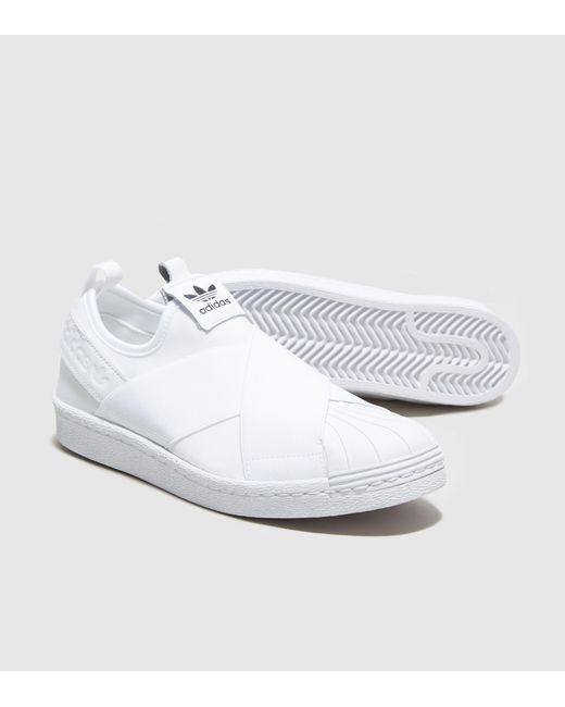 Adidas Originals | White Superstar Slip-on Women's | Lyst
