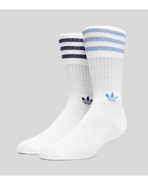 Adidas Originals | Blue Crew Socks 2 Pack for Men | Lyst
