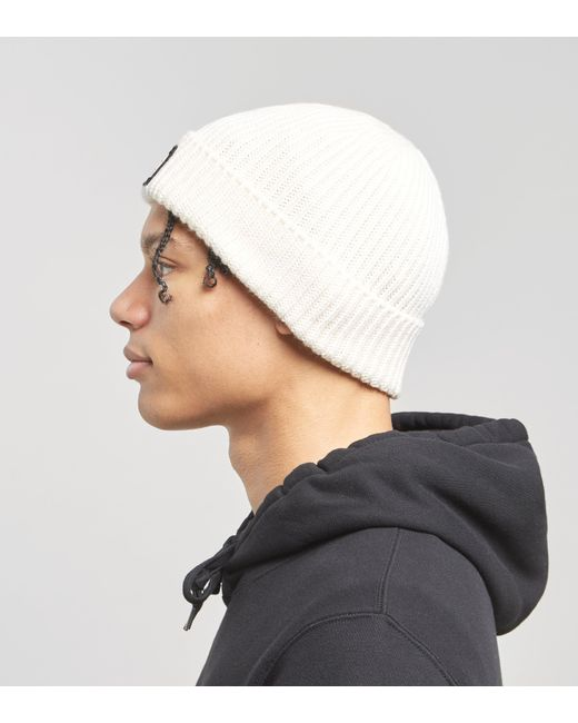 fddabb8e240 ... The North Face - Tnf Logo Box Cuffed Beanie In Vintage White for Men -  Lyst ...
