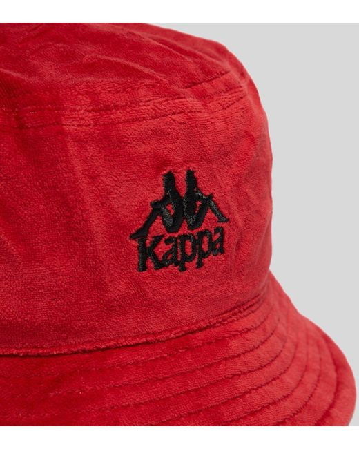 89bac27d8c257 ... where to buy kappa red ayumen bucket hat for men lyst 548ad 2fa43