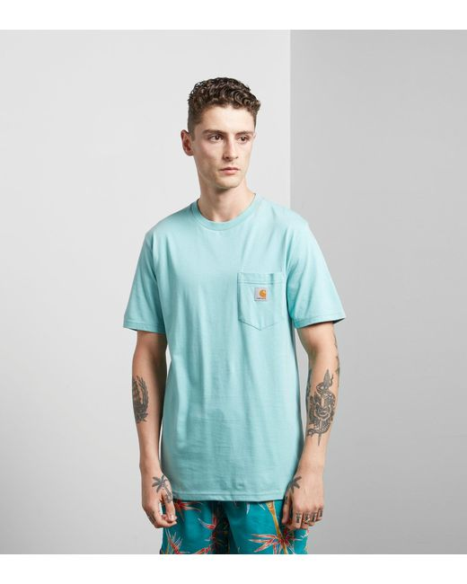 Carhartt WIP | Blue Pocket T-shirt for Men | Lyst