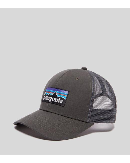 Patagonia - Gray P6 Logo Truck Cap for Men - Lyst
