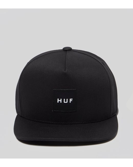 eaef5972fa713 Lyst - Huf Box Logo Snapback Cap in Black for Men - Save 76%
