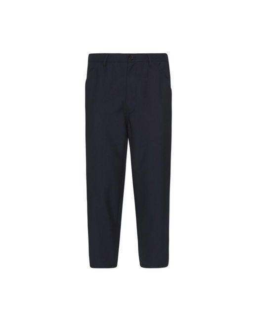 Comme des Garçons - Blue Gabardine Workstitch Pants for Men - Lyst
