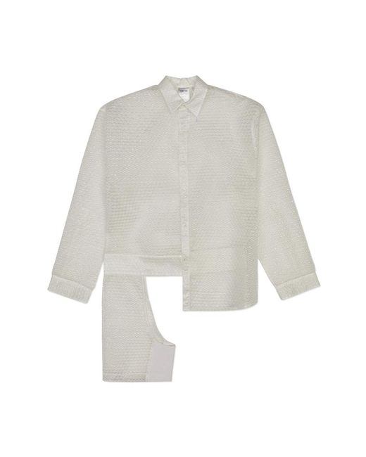 Helmut Lang - White Chap Bubble Shirt - Lyst