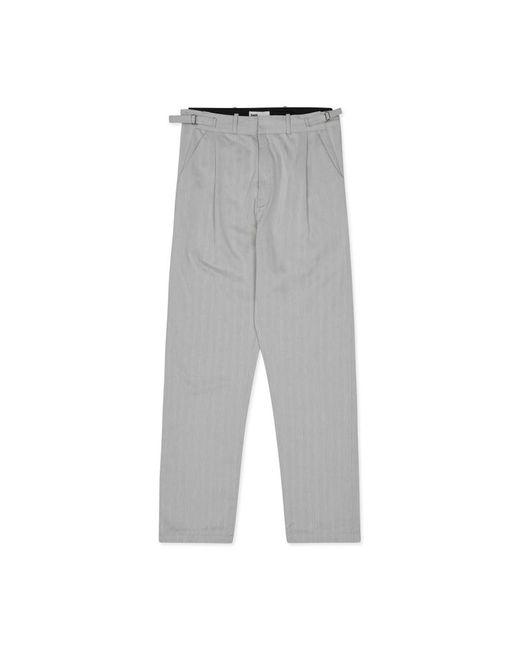 GmbH - Gray Tarek Classic Pleated Trousers for Men - Lyst