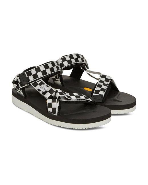 087e4ed40607 ... Suicoke - Black Depa V-2 Checkerboard Sandals for Men - Lyst ...