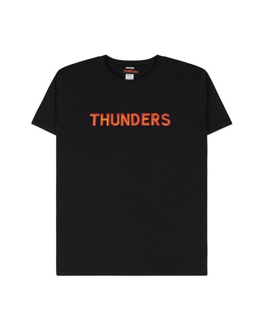 THUNDERS - Core Logo T-shirt Black/red Yellow for Men - Lyst
