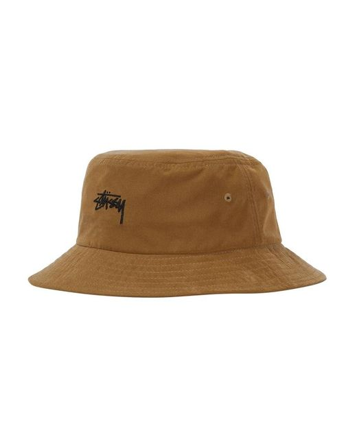 c1ebe43aa3b ... Stussy - Brown Stock Bucket Hat for Men - Lyst ...