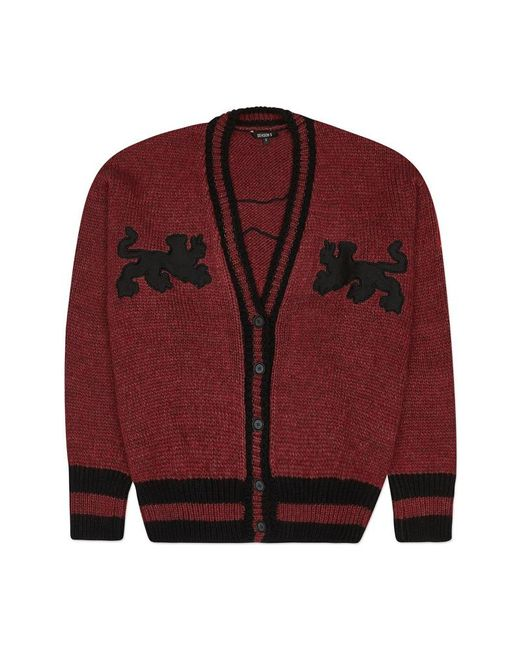 Yeezy - Red Graphic Cardigan - Lyst