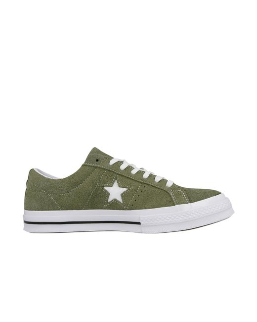 22c01c62962e ... Converse - Green One Star Vintage Suede for Men - Lyst ...