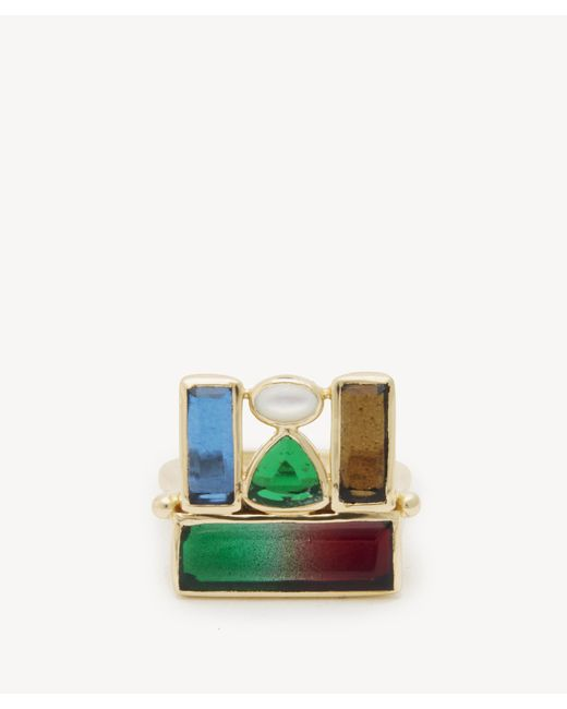 Sole Society - Green Cluster Statement Ring - Lyst