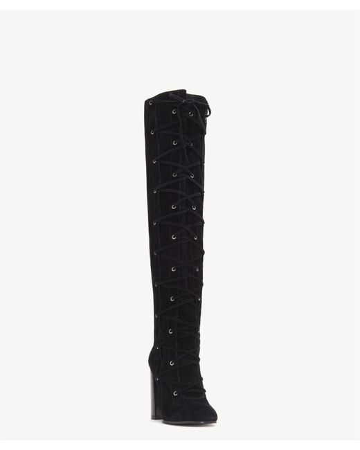 Vince Camuto - Black Thanta Lace Up Tall Boot - Lyst