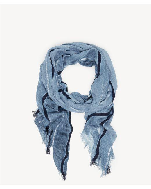 Sole Society - Blue Lightweight Stripe Scarf - Lyst