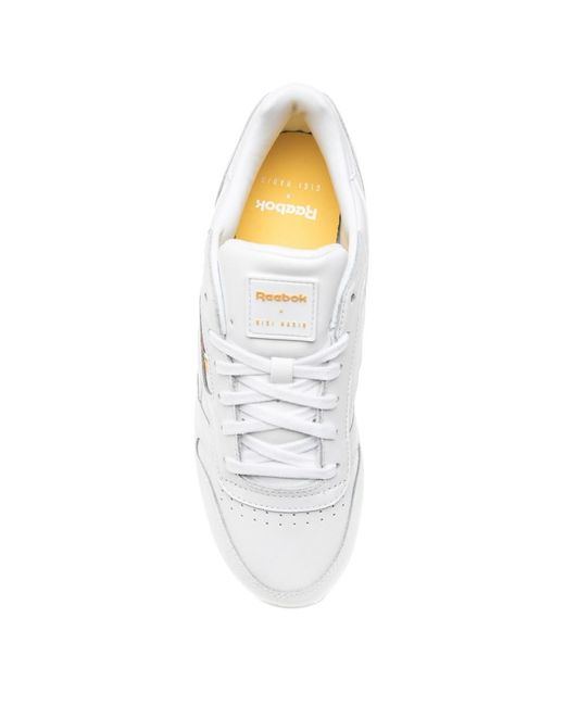 ad174a11af0 ... Reebok - White Classic Leather Double Trainers - Lyst ...