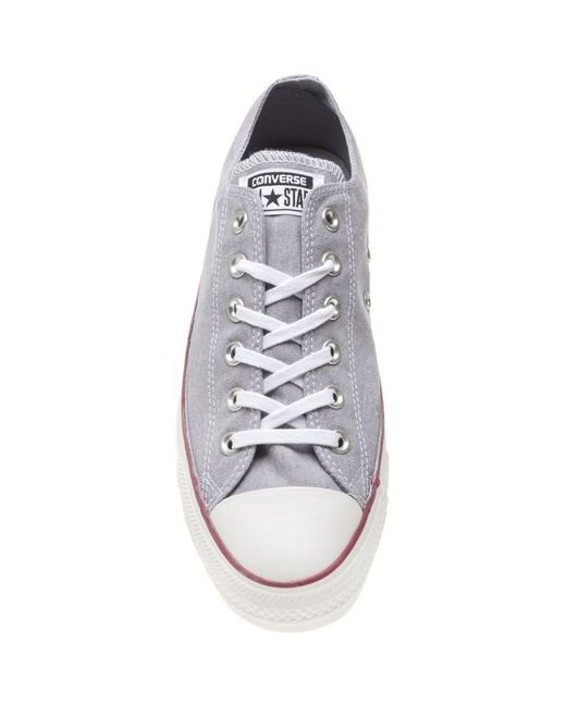 d297fe1c6e92a6 ... Converse - Gray All Star Ox Trainers for Men - Lyst ...