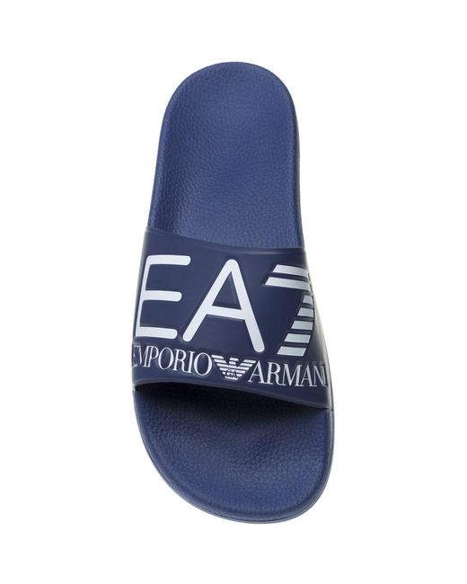 9fc3ea15d35996 ... EA7 - Blue Sea World Visibility Sandals for Men - Lyst ...