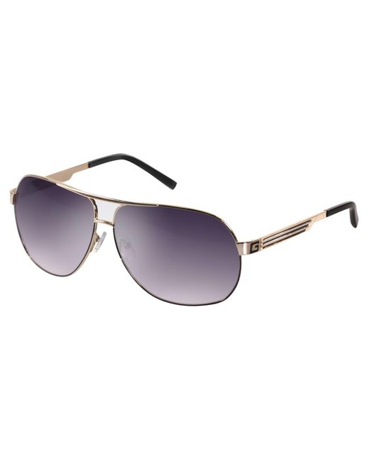 Guess - Brown 7002 Oversized Round Sunglasses - Lyst