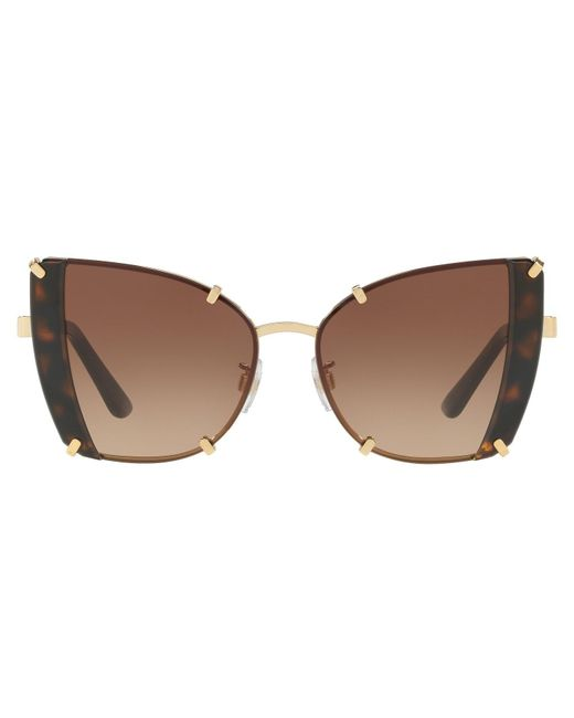 b7c9aaa4cc02 Lyst - Dolce   Gabbana Griffes   Stones Sunglasses in Brown - Save 28%