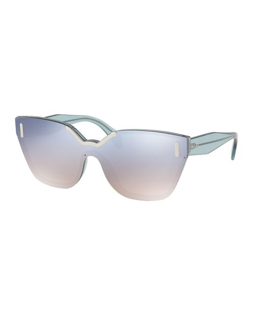 Prada - Blue 16ts Shield Sunglasses - Lyst