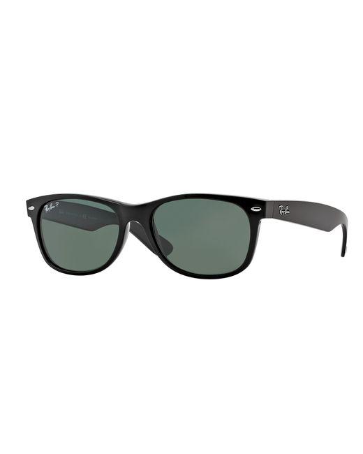 5363ffd7cf Lyst - Ray-Ban 3132 Polarized Wayfarer Sunglasses in Black