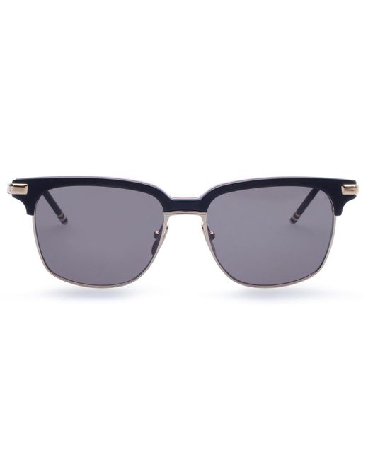 9faad9d04ca6 Lyst - Thom Browne Tb-713 Rectangle Sunglasses in Blue for Men