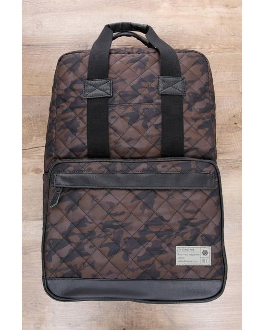 Hex | Gray Diamond Quilt Camo Print Backpack for Men | Lyst