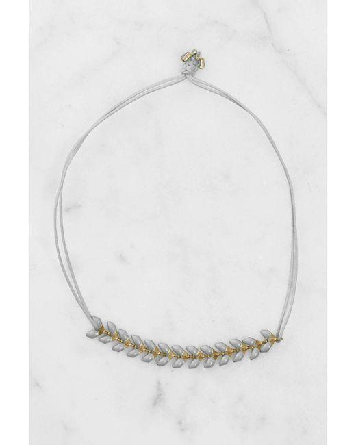 South Moon Under | Gray Herringbone Grey Bracelet | Lyst