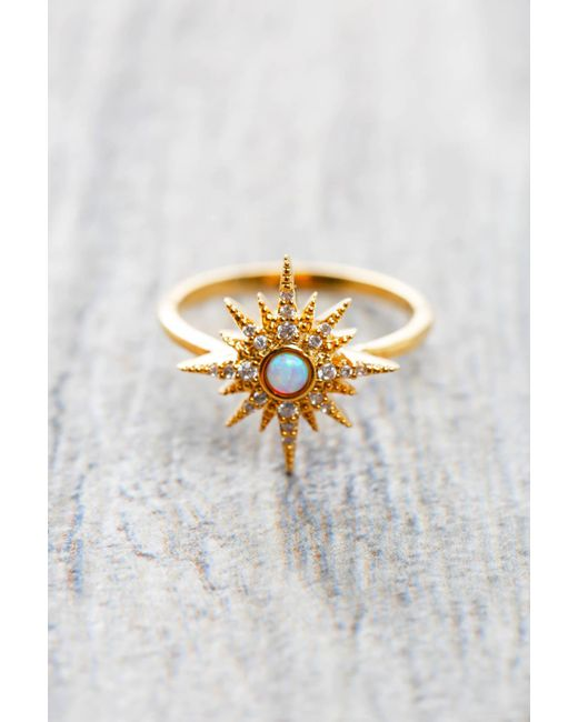 Tai | Metallic Gold Starburst Ring | Lyst