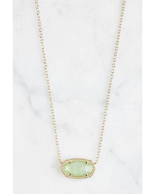 South Moon Under Crystal and Druzy Y Necklace White t8JiYXq5