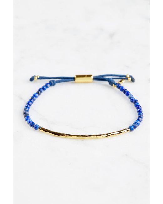 South Moon Under - Blue Wisdom Power Gem Stone Bracelet - Lyst