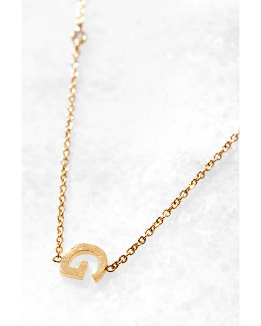 Tai Jewelry Gold Alphabet Necklace G Gold rpKHSCsOej