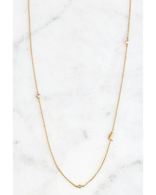 South Moon Under - Metallic Gold Alphabet Necklace L - Lyst