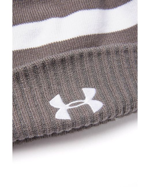 ... South Moon Under - Gray Striped Pom Beanie for Men - Lyst 6901513f9
