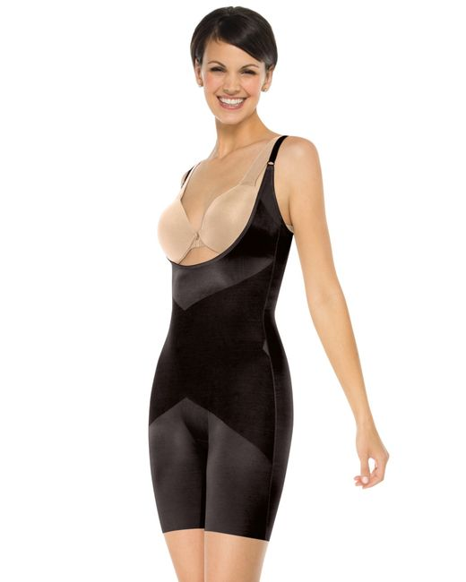 Spanx Skinny Britches® Open-bust Mid-thigh Bodysuit in ...