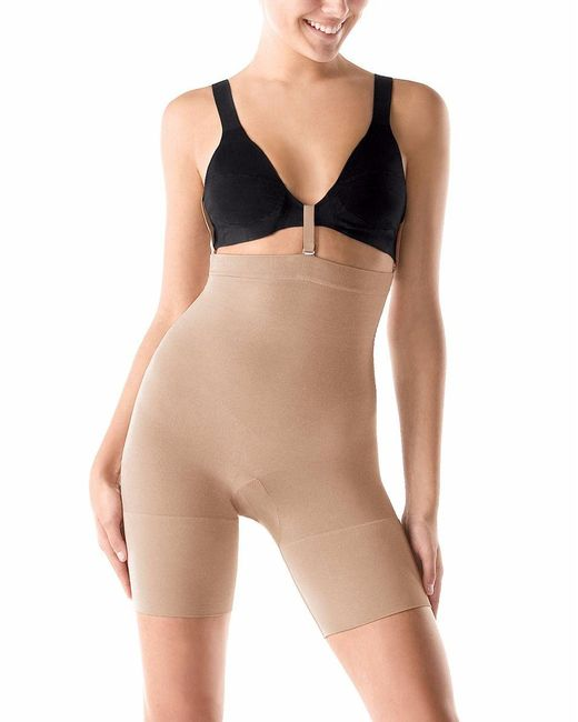 Spanx | Natural Slim Cognito® Shaping Mid-thigh Bodysuit | Lyst