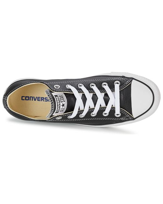 a35eb0dd677c ... Converse - Chuck Taylor Core Leather Ox Men s Shoes (trainers) In Black  for Men ...