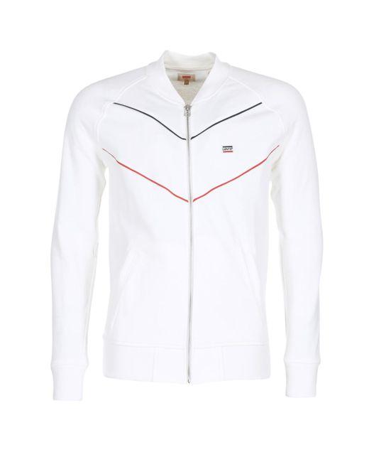 Levi's - Levis Original Series Bomber Men's Sweatshirt In White for Men - Lyst